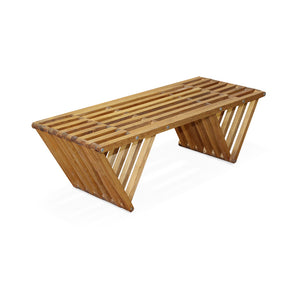 XQuare Wooden Bench X90 Light Brown