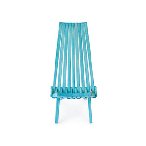 XQuare Wooden Folding Chair X45 Turquoise Tint