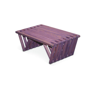 XQuare Wooden Coffee Table X36 Purple Berry