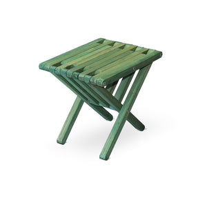 XQuare Wooden End Table X36 Alligator Green