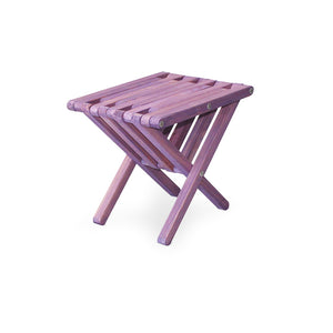 XQuare Wooden End Table X36 Purple Berry