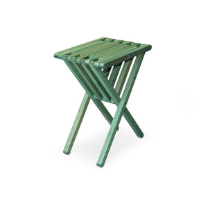 XQuare Wooden End Table X45 Alligator Green