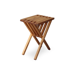 XQuare Wooden End Table X45 Light Brown