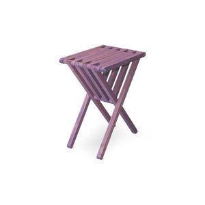 XQuare Wooden End Table X45 Purple Berry