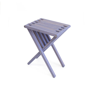 XQuare Wooden End Table X45 Stormy Skies