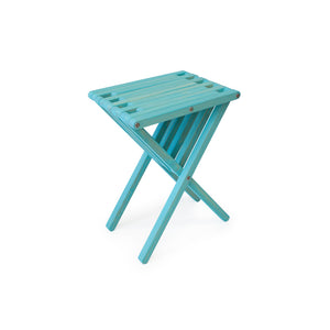 XQuare Wooden End Table X45 Turquoise Tint