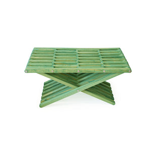 XQuare Wooden Ottoman X45 Alligator Green