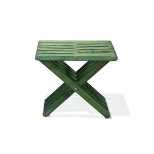 XQuare Wooden Stool X30 Alligator green