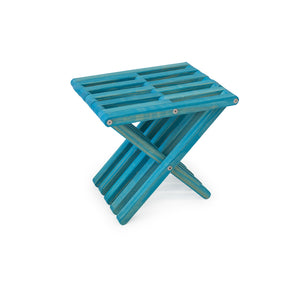 XQuare Wooden Stool X30 Gypsy Teal