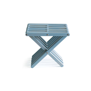 XQuare Wooden Stool X30 Shipmate Blue