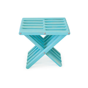 XQuare Wooden Stool X30 Turquoise Tint
