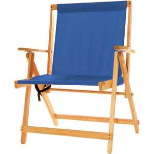 The XL foldable Deck Chair in atlantic blue