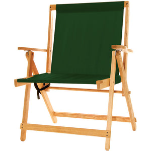 The XL foldable Deck Chair in forest green