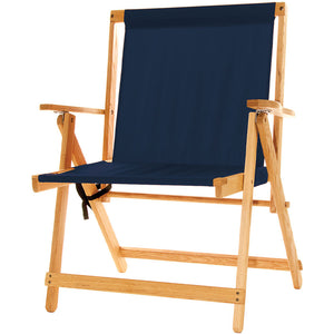 The XL foldable Deck Chair in Navy blue