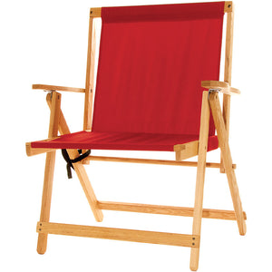 The XL foldable Deck Chair in red
