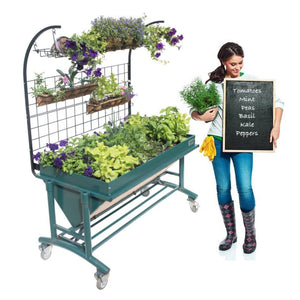 LGarden Elevated Complete Gardening System Kit