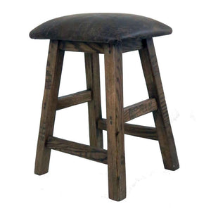 Barnwood Cushion Seat Bar Stool