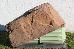 DekoRRa Artificial Rock Model 117 in Autumn Bluff color protecting electrical box