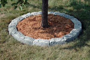 DekoRRa Fieldstone Bluff Block Edging Kit around tree