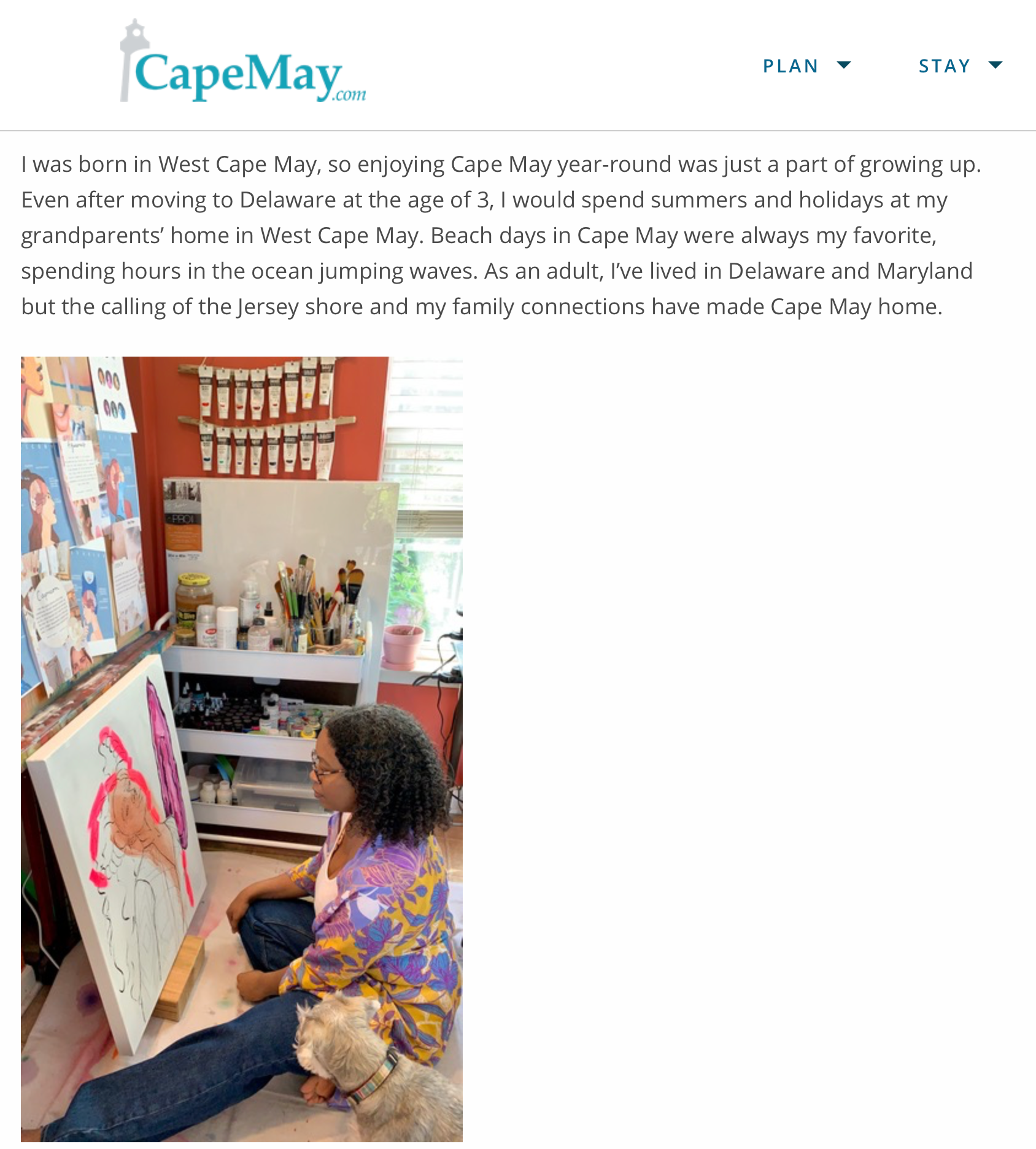 Artist Chanelle Rene featured in CapeMay.com Blog