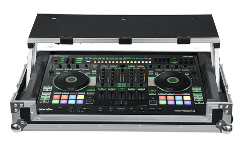 Road Case for Roland DJ-808 Controller with Sliding Laptop Platform
