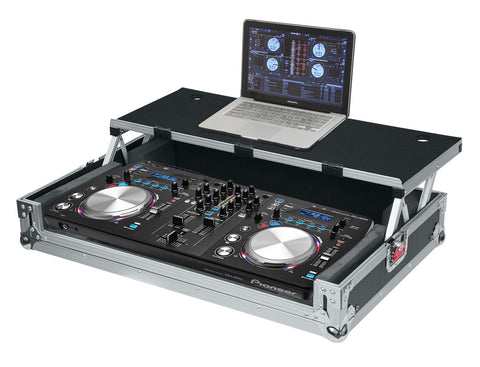 Universal Road Case for Large DJ Controllers with Sliding Laptop Platform
