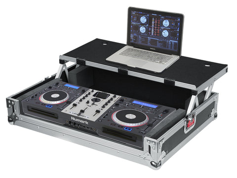 Universal Road Case for Medium DJ Controllers with Sliding Laptop Platform