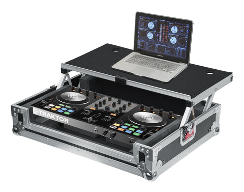 Universal Road Case for Small DJ Controllers with Sliding Laptop Platform