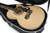 Gator Deluxe Molded Case for Jumbo Acoustic Guitars - Rugged Hard Cases