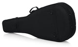 Gator Rigid EPS Polyfoam Lightweight Case for 12-String Dreadnought Guitars - Rugged Hard Cases