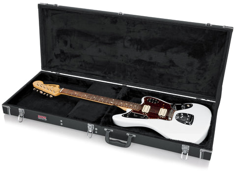 Gator Deluxe Wood Case for Jaguar, Jagmaster, and Jazzmaster Style Guitars - Rugged Hard Cases