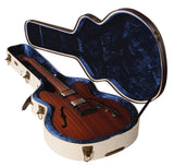 Gator Deluxe Wood Case for Semi-Hollow Electrics like Gibson 335 - Rugged Hard Cases