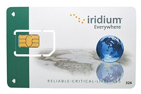 Iridium Satellite Phone Prepaid SIM Card - 750 Minutes / 6 Month Validity