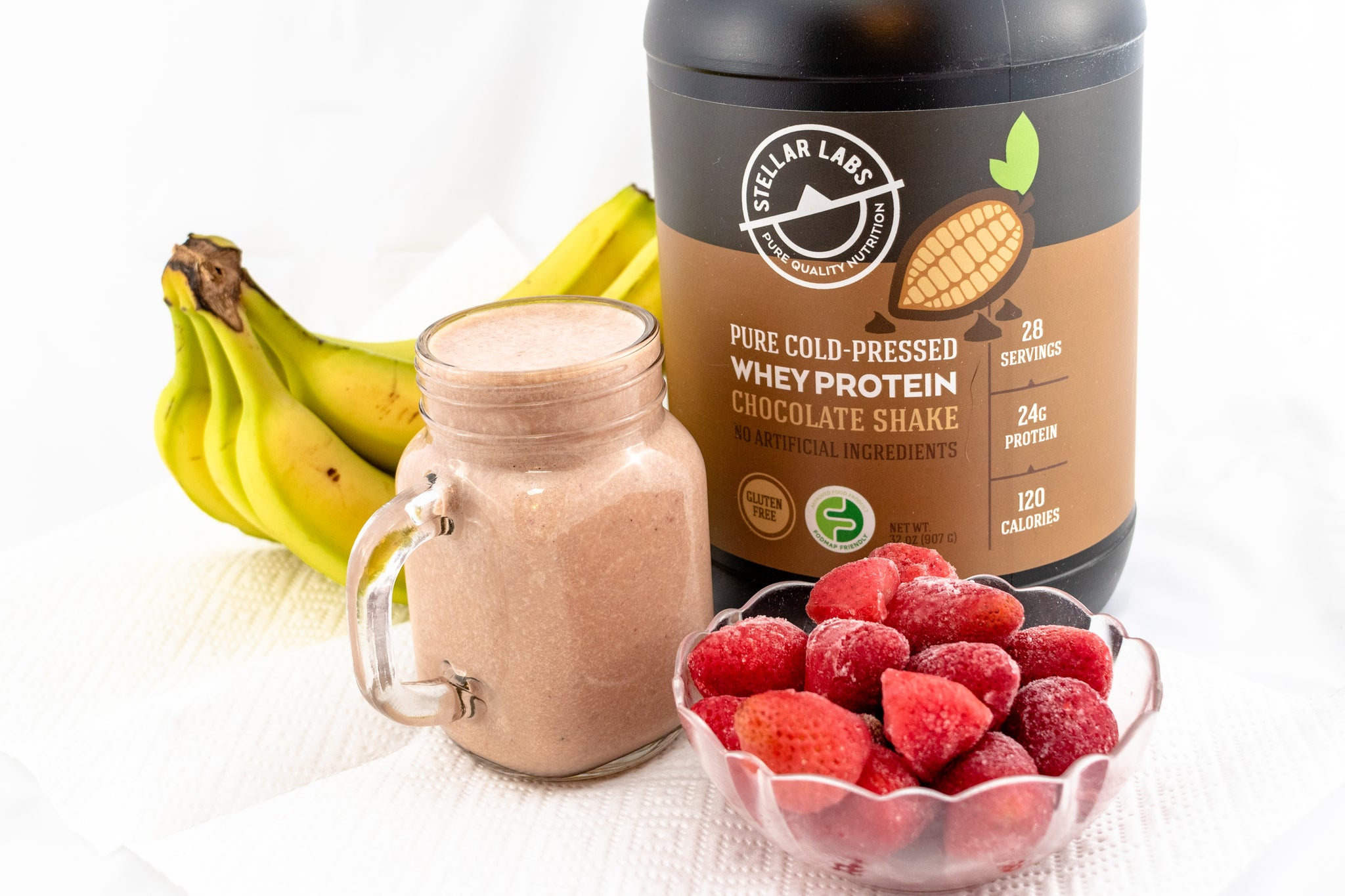 Whey Chocolate Strawberry Protein Shake