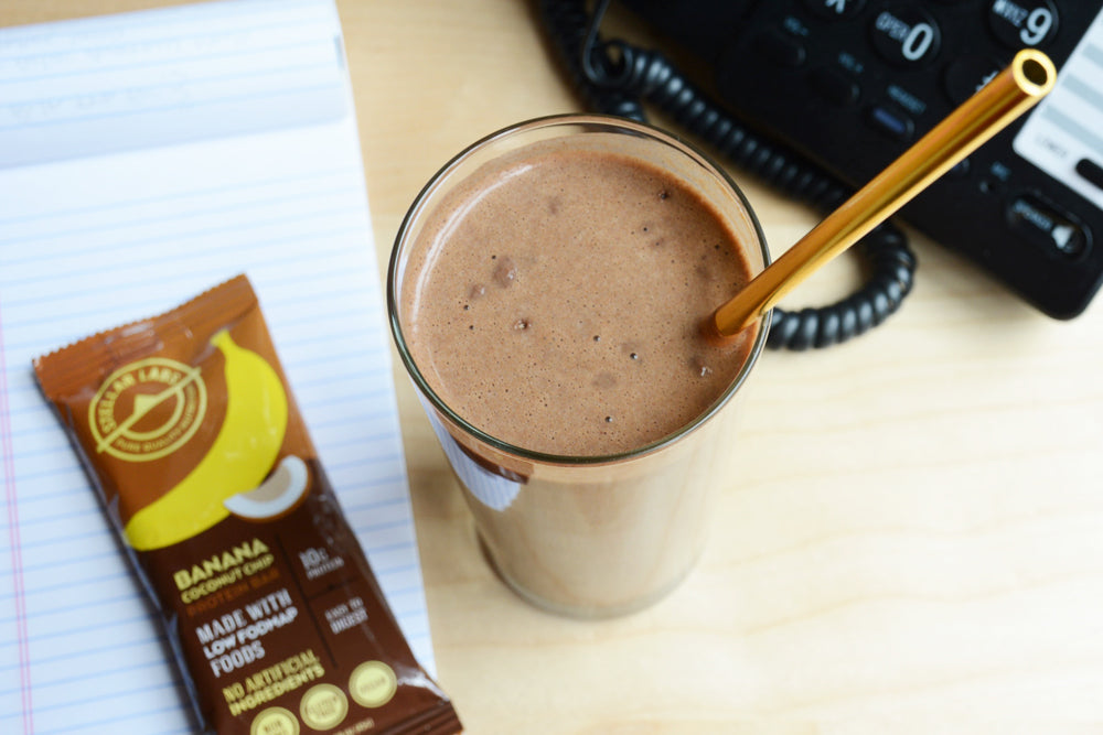 Whey Chocolate Peanut Butter Banana Smoothie