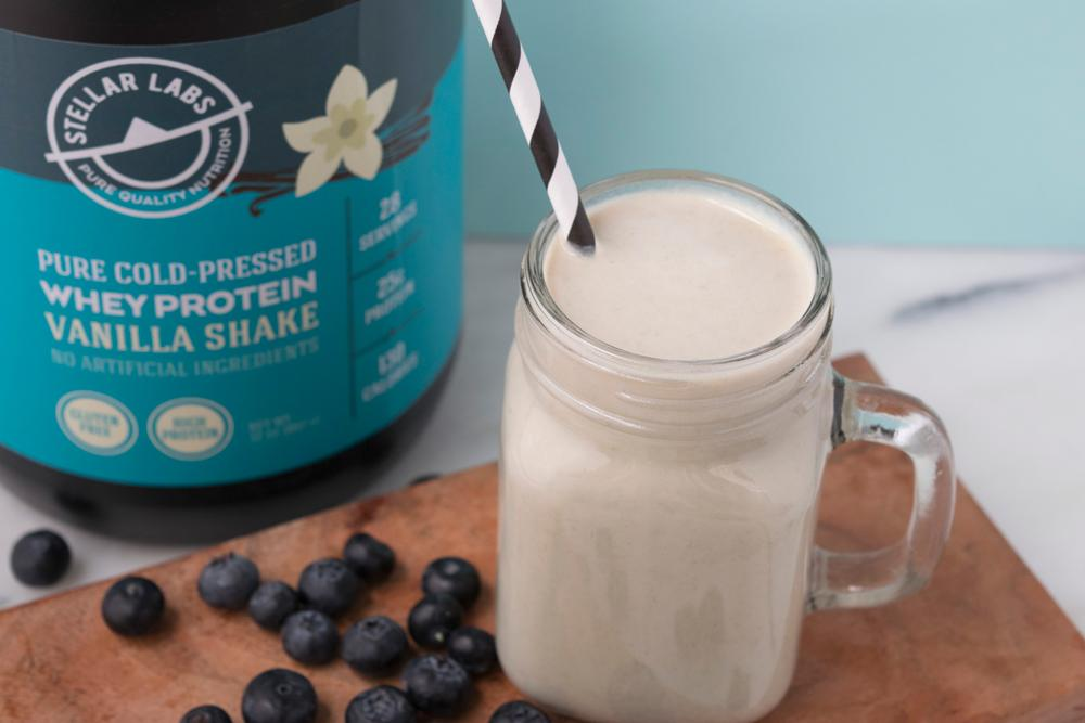 Whey Vanilla Blueberry Shake