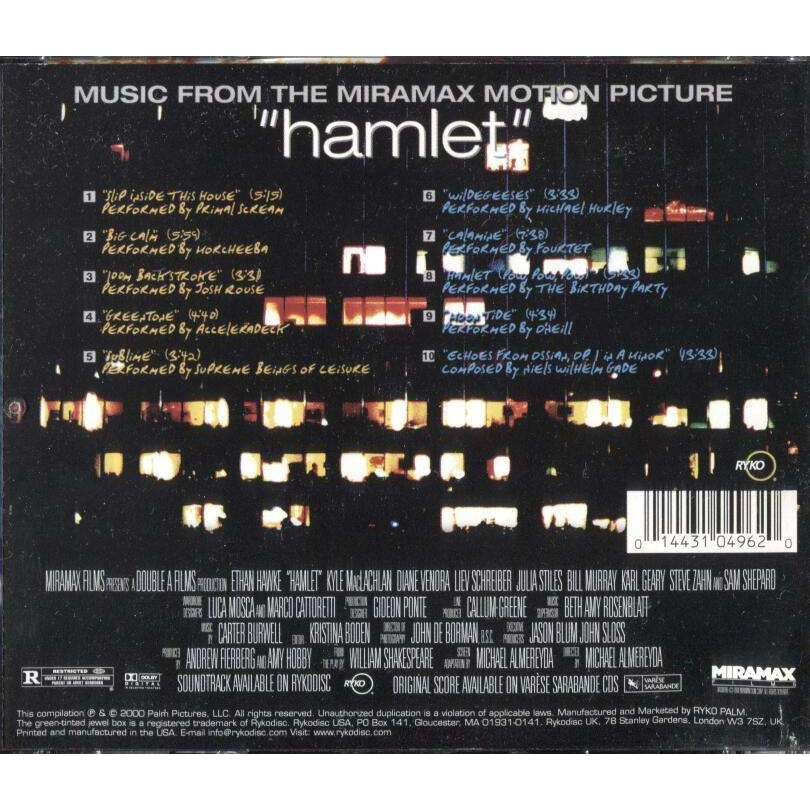 Soundtrack - Hamlet (2000) - CD - The CD Exchange