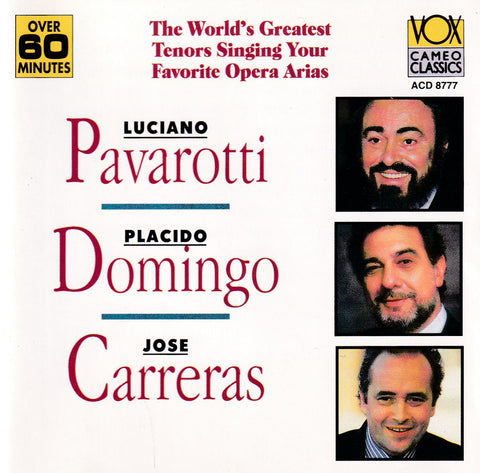 Jose Carreras, Placido Domingo, Luciano Pavarotti - Carreras, Domingo, Pavarotti - CD - The CD Exchange