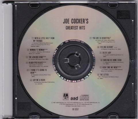 Joe Cocker - Greatest Hits - Clearance CDs,The CD Exchange