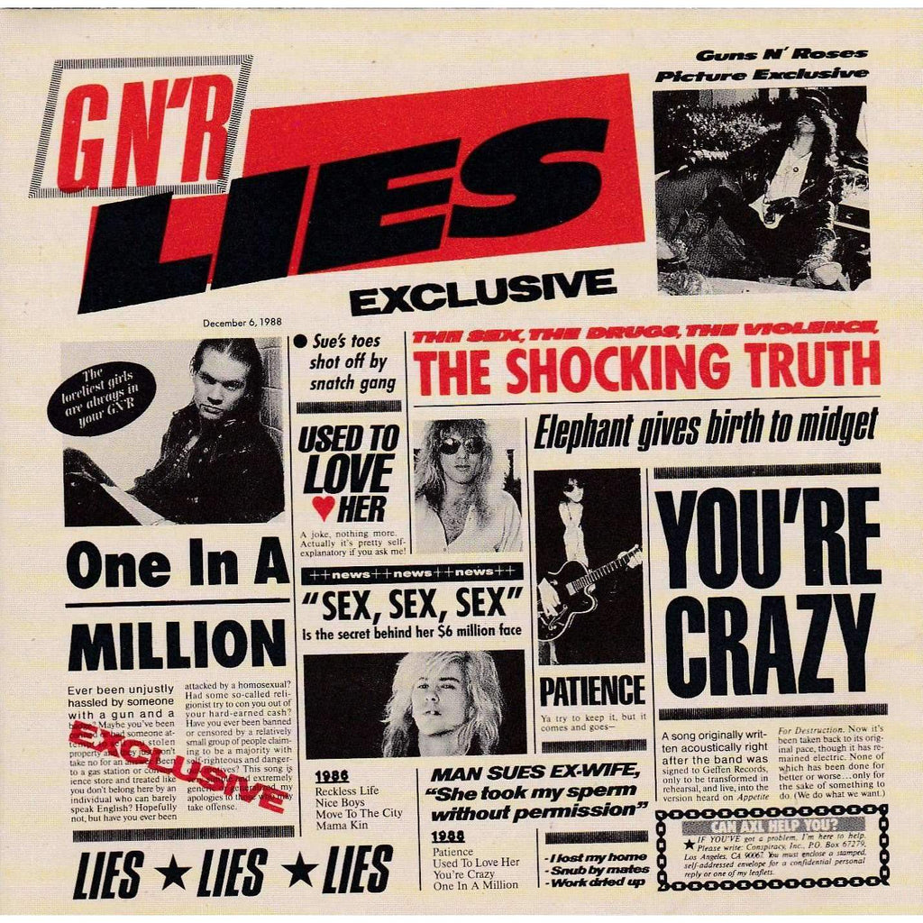 Guns N' Roses - G N' R Lies - Used CD,CD,The CD Exchange