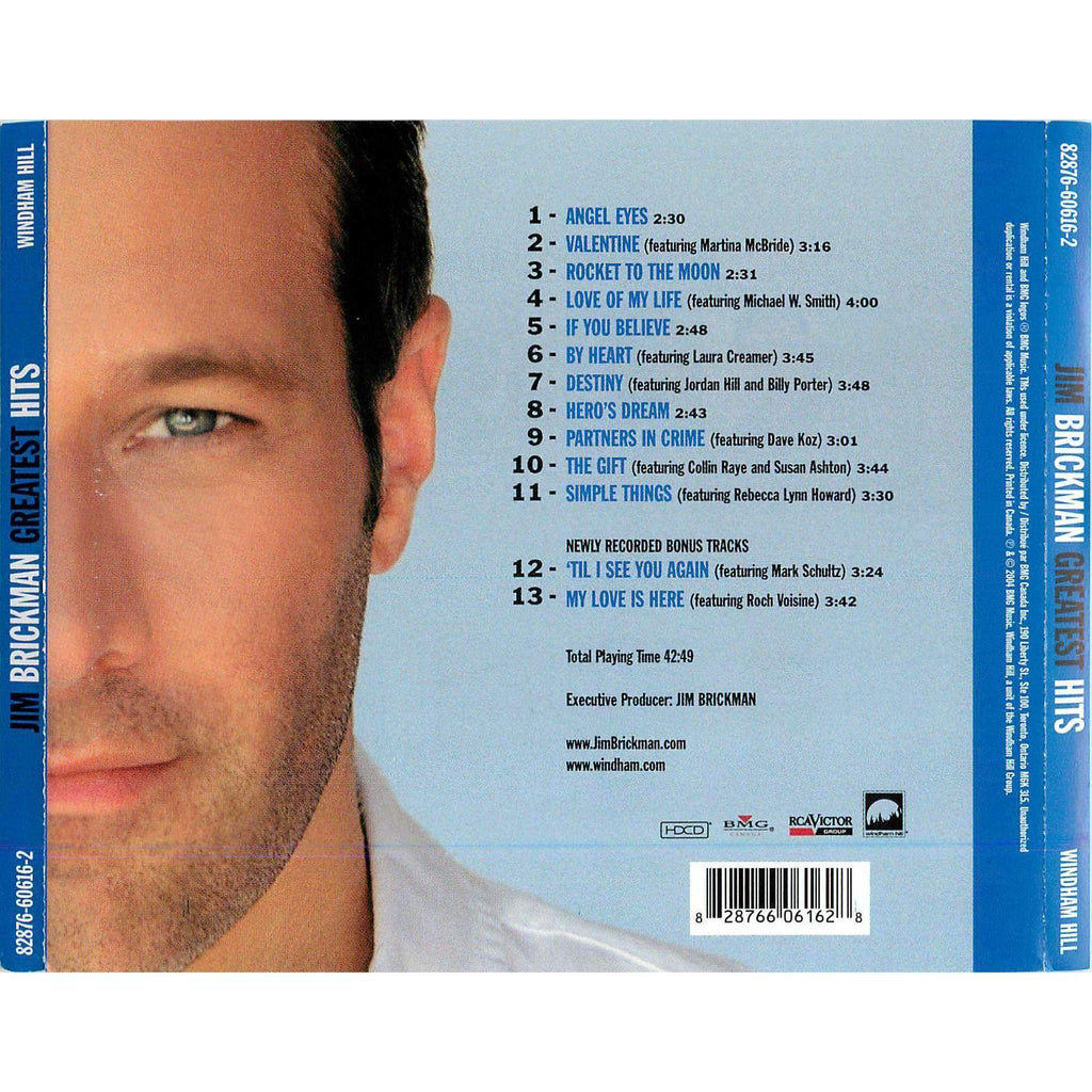 Jim Brickman | Greatest Hits,CD,The CD Exchange