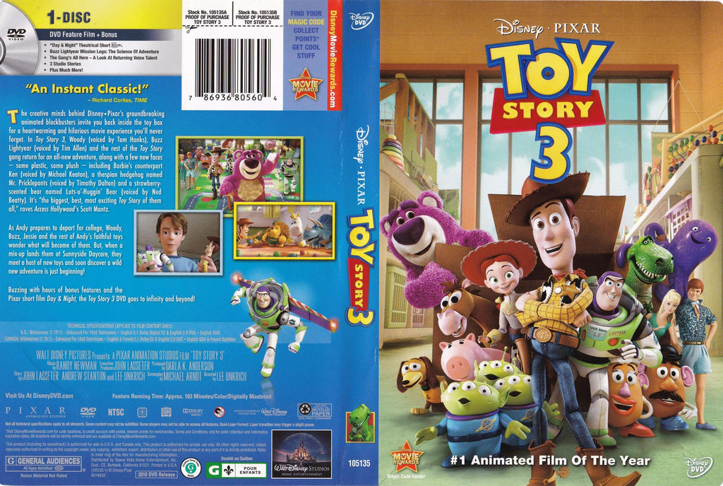DVD - Toy Story 3 - Used - The CD Exchange