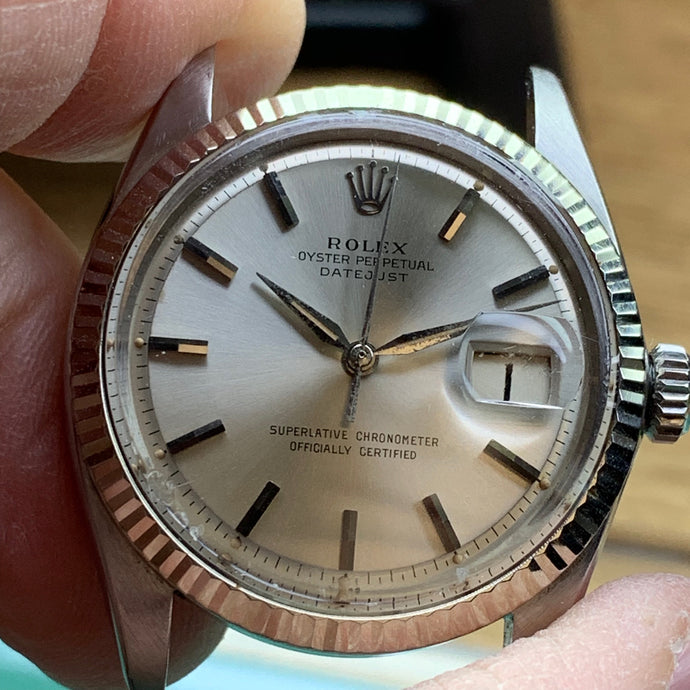 Servicing a Rolex 1601 Datejust Calibre 1560 from 1963
