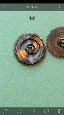 Gruen 711CD - Left winding mainspring (like PUW)