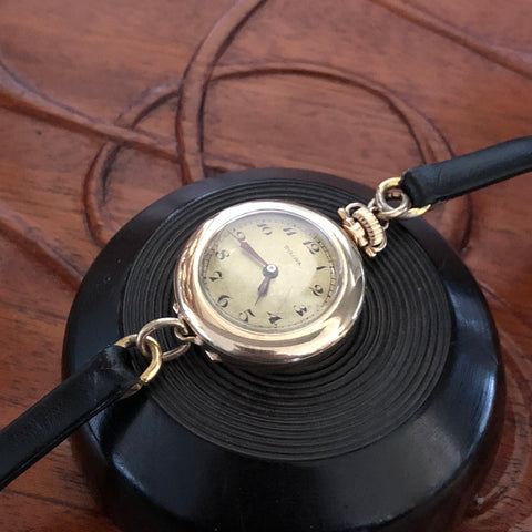 Bulova 1926 Transitional Womens Pocket Watch on Leather Strap Fully Serviced by ClockSavant