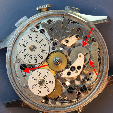 Servicing a Valjoux 72 Chronograph