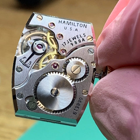 Servicing a beautiful 1930's Hamilton Seckron calibre 980a doctors vintage watch