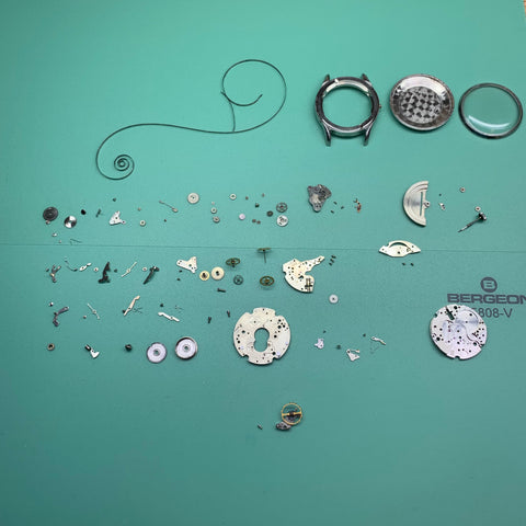 Servicing a Vintage 1950's Zodiac Automatic Moonphase Calibre A. Schild (AS) 1402N