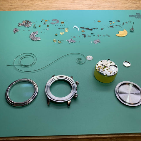 Servicing the Blancpain Flyback based on the F. Piguet calibre 1185 (Blancpain F185)