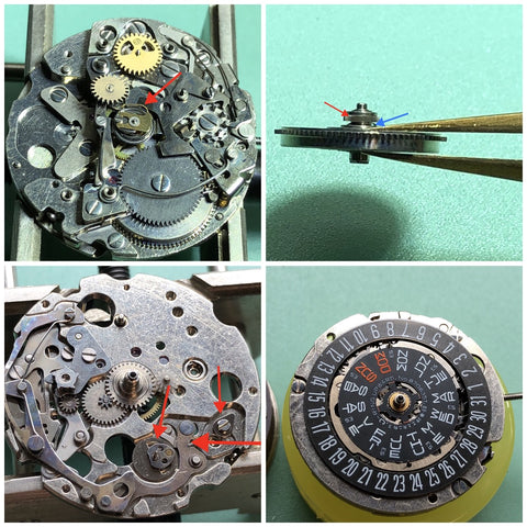 Seiko 6138 chronograph servicing observations - vertical clutch and chronograph hour register